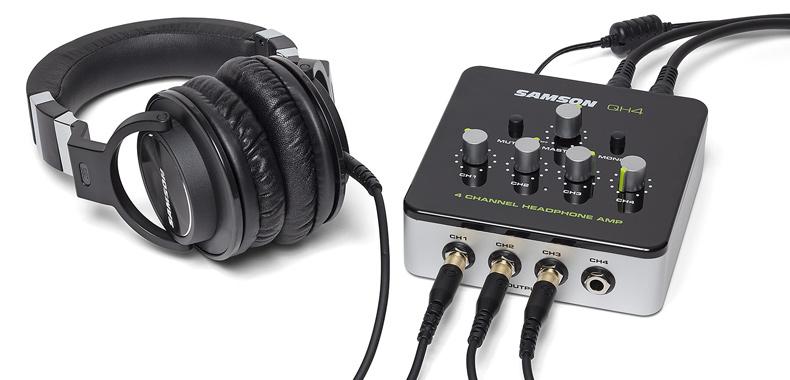 Samson 发布新款 QH4 四通道耳机放大器