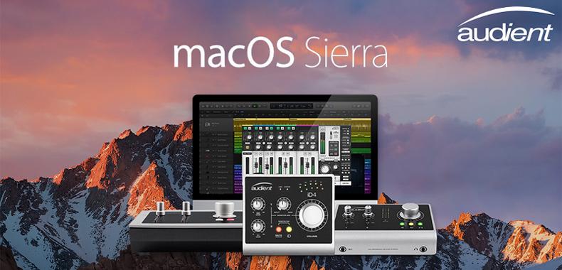 Audient iD 系列声卡已全面兼容支持 macOS Sierra 系统